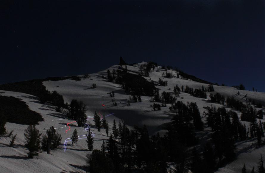 full moon skiing
