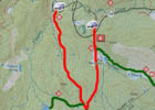 Trail Map of the Christmas Valley Downhill and other mountain bike trails in the Big Meadow area.