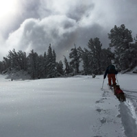 Early season skinning at Heavenly