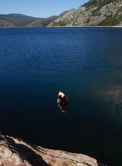 Climbing Bowman Lake