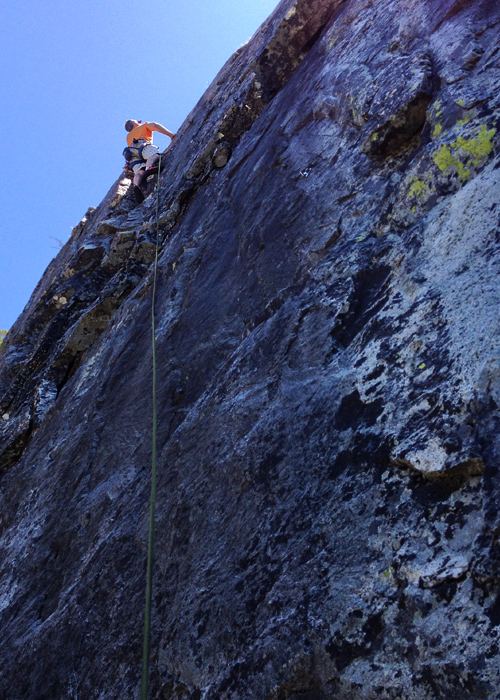 climbing at bowman lake