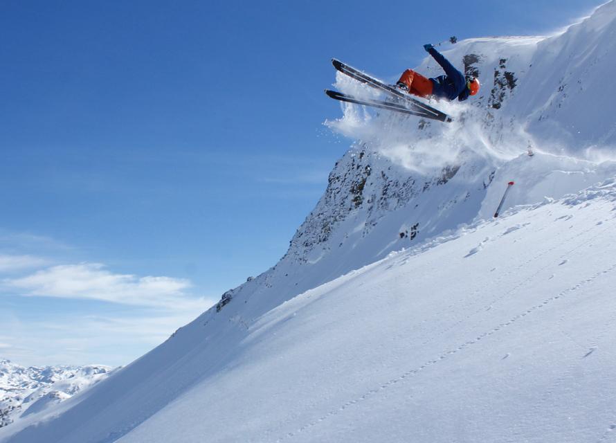 skier flipping