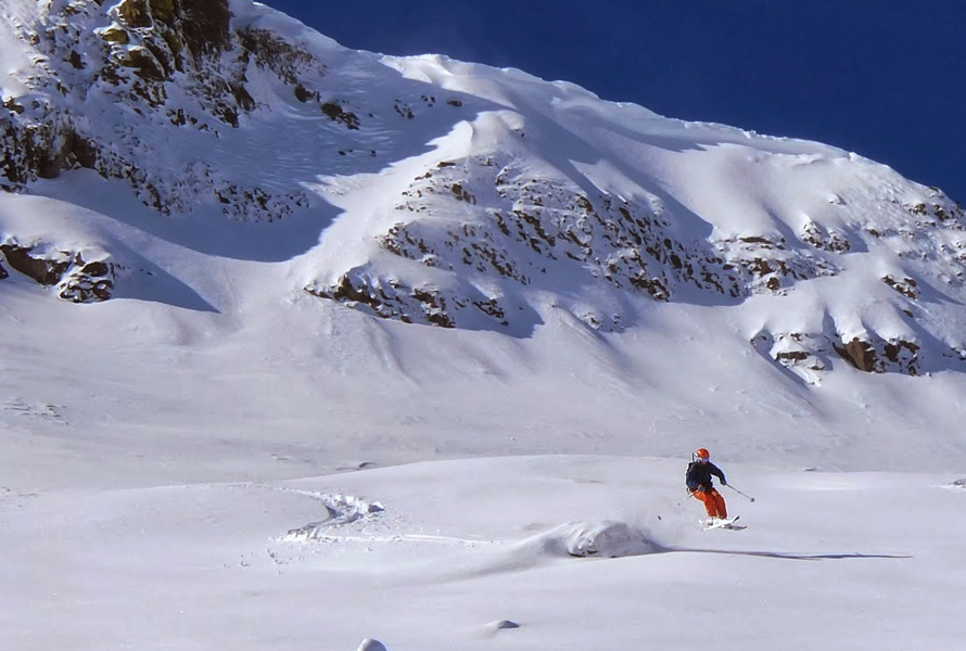 skiing at carson pass