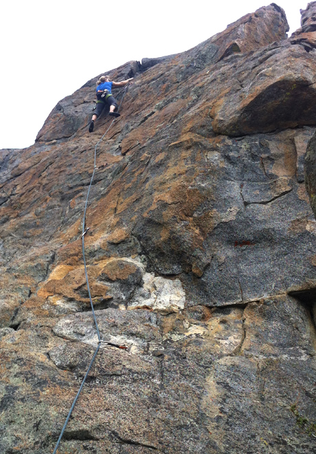 sport climbing at luther rock
