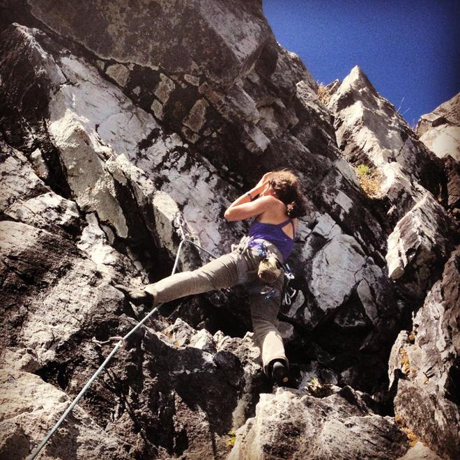 climber at mayhem cove