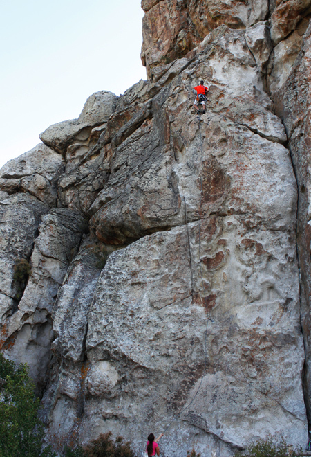climbing at city of rocks, idaho