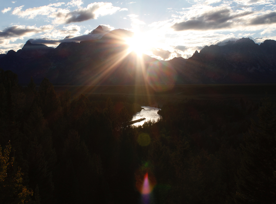 snake river and the middle teton