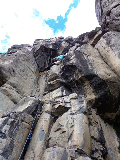 climber at twin crags