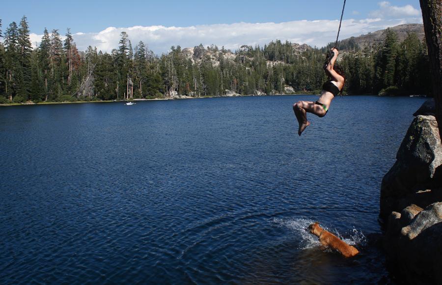 kirkwood lake rope swing