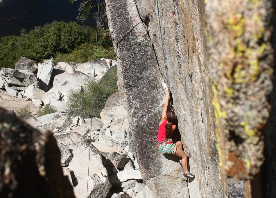 climbing at margaret lake