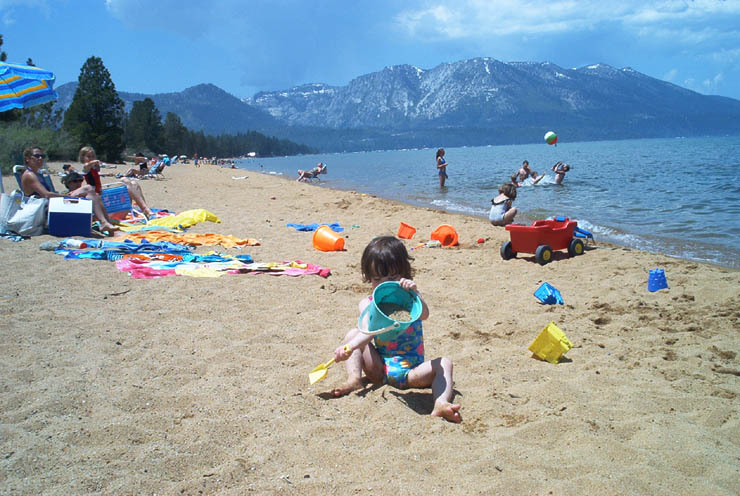 Pope Beach As You Leave South Lake Tahoe
