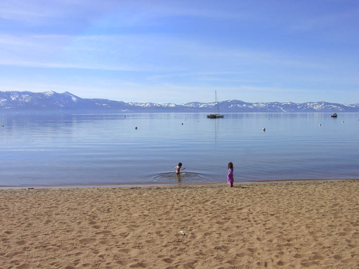 Swimming In Lake Tahoe March 032 Zephyr Cove